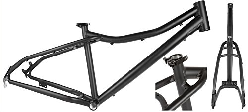 Fatbike Snowbike Fahrrad Rahmen Aluminium schwarz 26 Zoll 42cm Fat Bike Snow