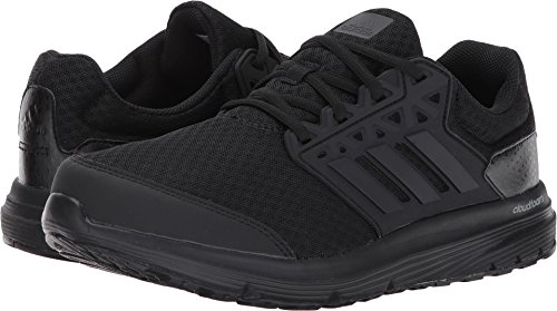adidas Men's Galaxy 3 Wide m Running Shoe, Black/Black/Black, 9 W US