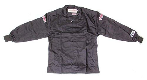 (G-Force 4126MEDBK GF 125 Black Medium Single Layer Racing Jacket)