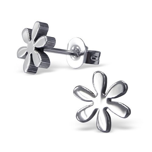 316L Surgical Grade Stainless Steel Flower Ear Studs