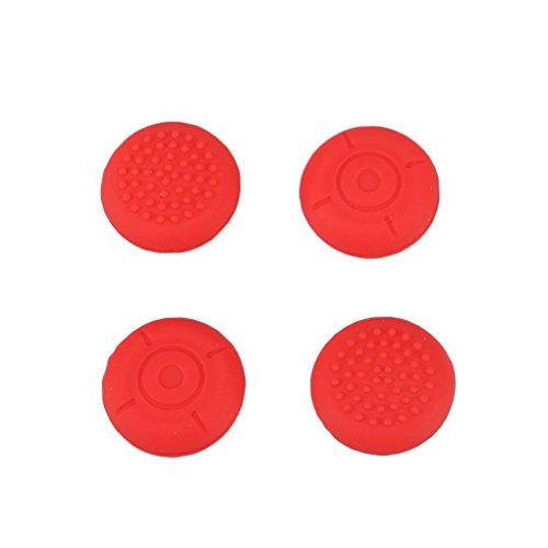 Harmily 4 Pack Replacement Analog Silicone Thumb Sticks Joysticks Grips Caps Non-Slip For Nintendo -