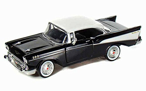 1957 Chevy Bel Air, Black - Motormax Premium American 73228 - 1/24 Scale Diecast Model Car