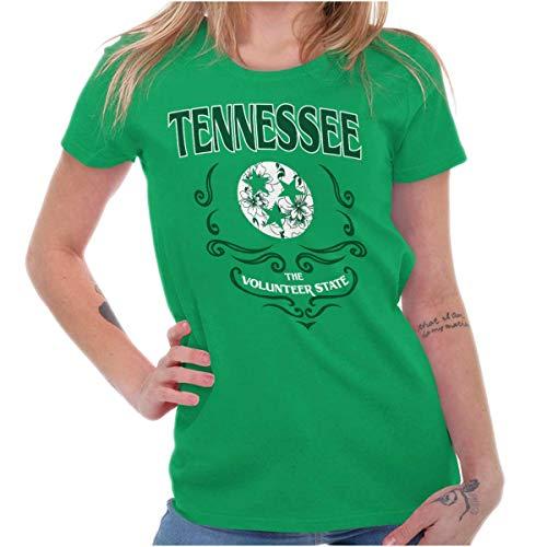 - Brisco Brands Tennessee Volunteer State Feminine Symbol Ladies T Shirt Irish Green