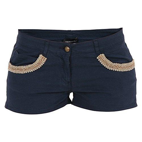 ermanno-scervino-womens-pc0700141-blue-cotton-shorts