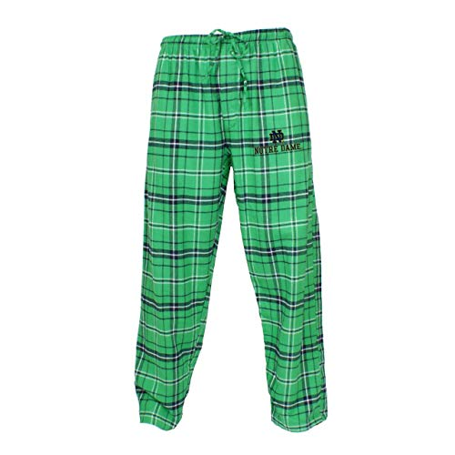 Concept Sport Notre Dame Fighting Irish Adult NCAA Team Pride Flannel Lounge Pants - Green, Large ()
