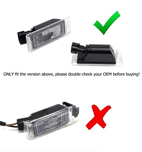 iJDMTOY Xenon White 18-SMD 3W LED License Plate Lamps For Chevy Camaro Corvette SS Equinox Impala & Cadillac CTS SRX XTS ELR etc. CANbus Controllers Included