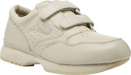 Propet Hombres Leisure Walker Strap Sneaker Ecru
