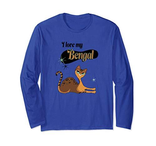 I Love My Bengal Cat Long Sleeve Shirt mid century retro
