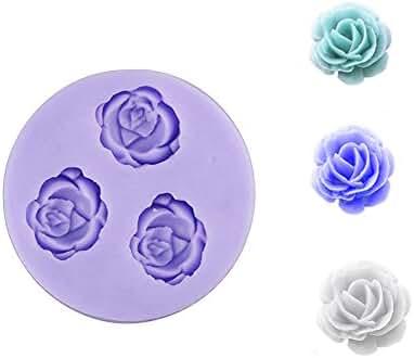 Eworld Mini -Rose Flower Silicone Mold- Fondant Sugar Candy Cake Decorating Mould