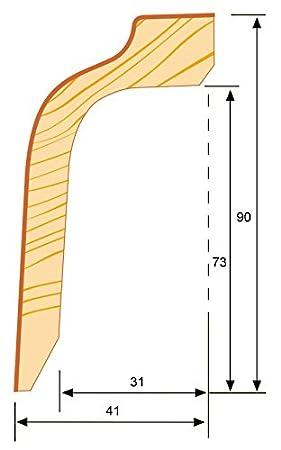 Kabelkanal Sockelleiste wei/ß Rohrverkleidung 41x90x2400mm KGM Verkleidung wei/ß 90mm Heizungsrohr Abdeckung ✓Kabelkanal ✓weiss ✓Echtholz