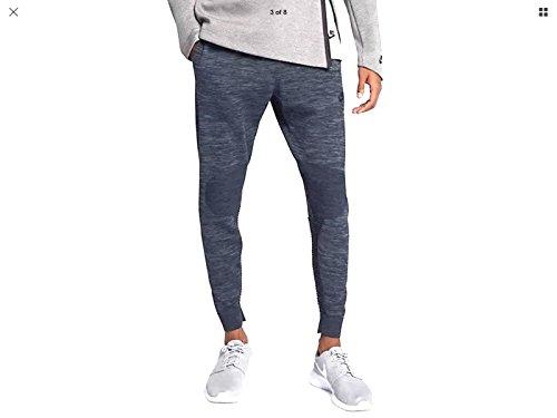 Nike NSW Tech Knit Sweat Pants 832180 473 Size Large Obsidian Blue Heather Black
