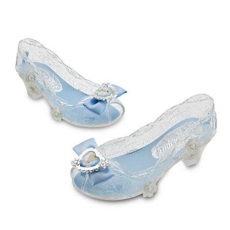 [Disney 2015 Cinderella Light Up Costume Shoes for Girls 9/10] (Cinderella Costumes For Girl)