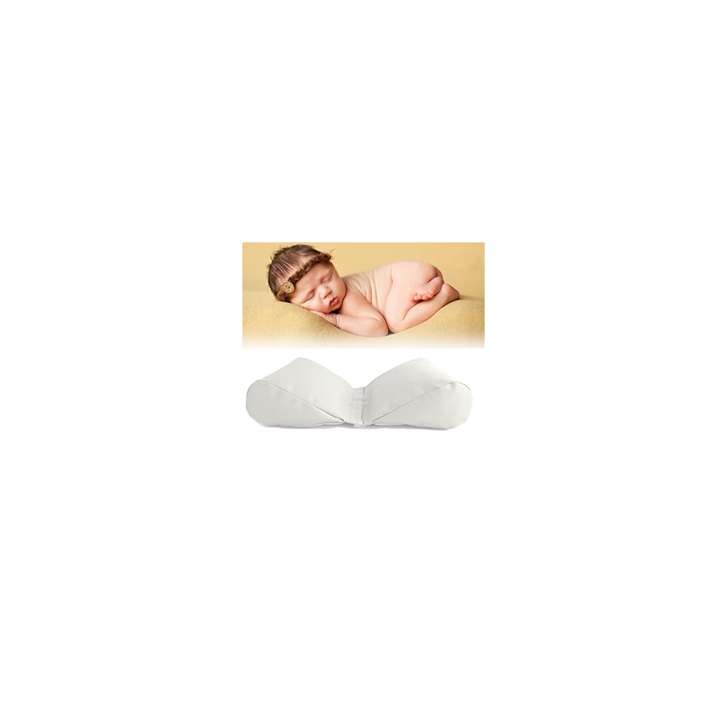 Sunmig Newborn Baby Photography Butterfly Posing Pillow Basket Filler Photo Prop (White)