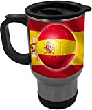 Rikki Knight Russia World Cup 2018 Spain Team Football Soccer Flag Design 14oz Stainless Steel Travel Mug