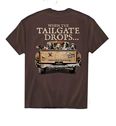 American Fido When The Tailgate Drops Adult Short Sleeve T-Shirt-XXL ()