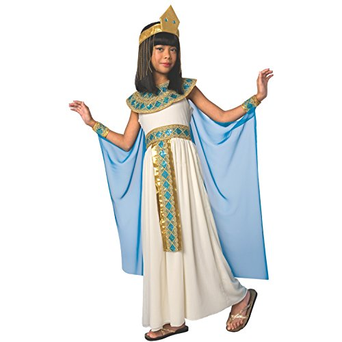 Girls Cleopatra Costume Kids Egyptian Princess Dress Queen of The Nile Outfit - Med (6-8 Years) -