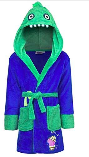 Mgs33 Peppa Pig Peignoir Robe de Chambre Enfant Bleu Ciel et Vert