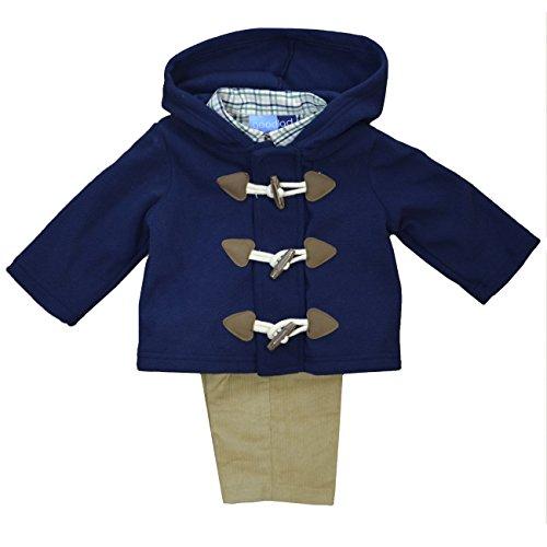 ler 3 Piece Navy Toggle Fleece Jacket Set (4T) ()