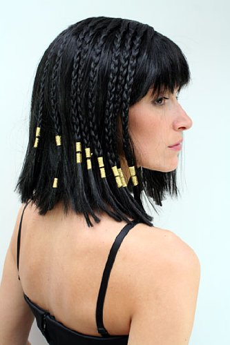 WIG ME UP ® - Peluca Cleopatra, Halloween, Diva, Hollywood, para carnaval: Amazon.es: Juguetes y juegos