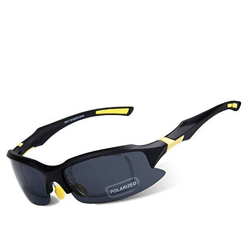 para hombre de 41 121 amp;X Gafas x polarizadas Z sol mm amarillo 153 x negro qxwXBTYxE
