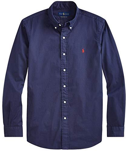 Polo Ralph Lauren Men's Big and Tall Long Sleeves Classic Fit Oxford Buttondown Shirt (3XLT, - Oxford Placket Shirt