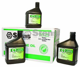 Stens 4-cycle Engine Oil for SAE30-SJ Wt, Twelve 32 Oz.btls by Oregon