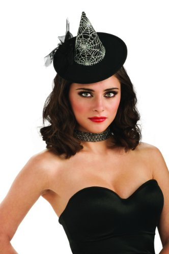 Rubie's Costume Womens Mini Spiderweb Witch Hat, Black, One Size - Sexy Top Hat