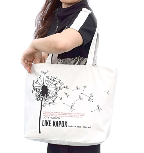 Women's Hoho com Urban Tote Bag Style White Flower eco Shoulder rr5qwA