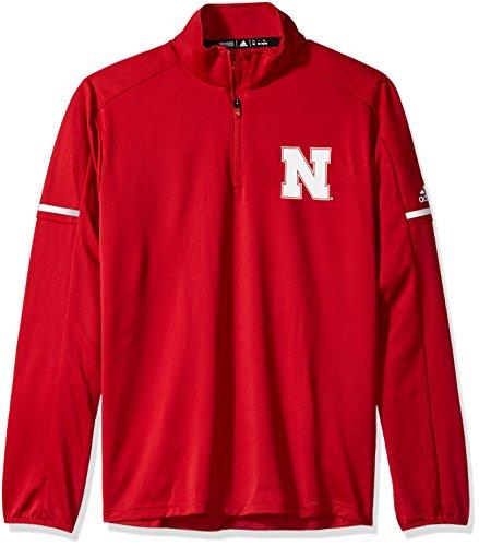 cb57b7b35e5 adidas NCAA Men s Sideline L S 1 4 Zip Pullover Jacket