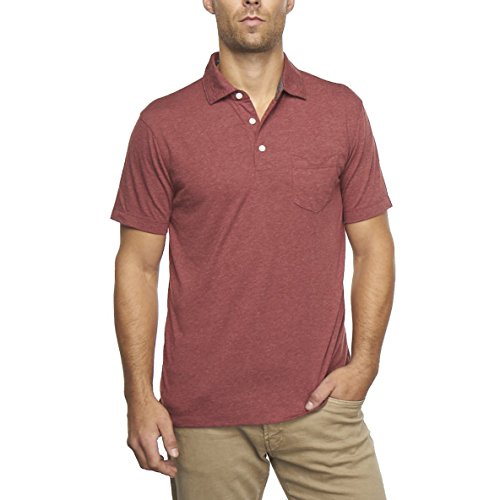Tailor Vintage Men's Performance Heather Jersey Polo (Port Heather) 9520P950-PRT