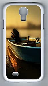 Boat At The Pier Polycarbonate Hard Case Cover for Samsung Galaxy S4/Samsung Galaxy I9500 White by lolosakes