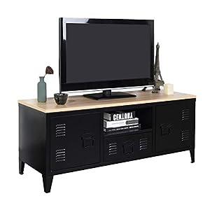 Meuble Cosy Grand Espace 1 Tiroir, 2 Portes Métal Bureau Armoire, Buffet de Rangement, Meuble Télévision, Oak, 120 X 40…