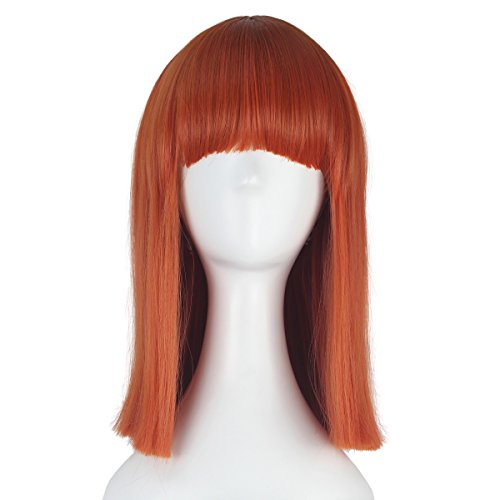 Halloween Costumes For Women With Short Hair (Miss U Hair Short Straight Hair Women Girl Orange Party Cosplay Costume Wig Halloween)