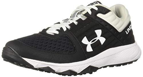 Under Armour Men's Yard Trainer Baseball Shoe, Black (001)/White, 13 (Turf Softball Shoes)