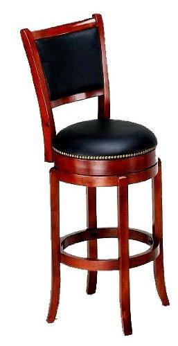 Cool Amazon Com New Cherry Finish Wood Bar Stool With Black Evergreenethics Interior Chair Design Evergreenethicsorg