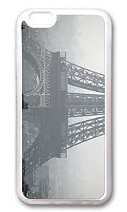 MOKSHOP Adorable Eiffel Tower Paris Soft Case Protective Shell Cell Phone Cover For Apple Iphone 6 Plus (5.5 Inch) - TPU Transparent