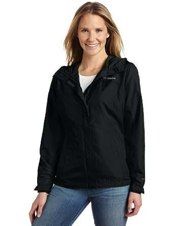 Columbia Women's Silver Falls Rain Jacket, Black, Small