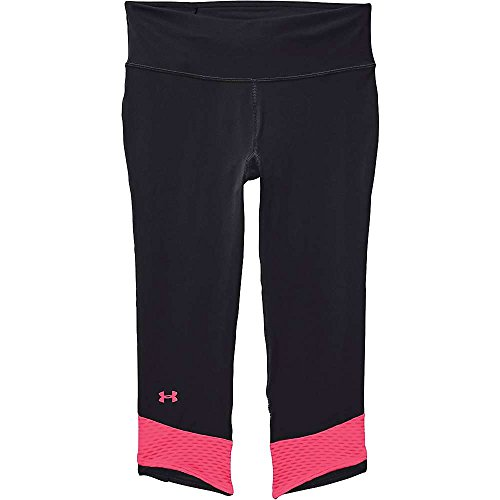 Under Armour Fly By Compression Capri - Women's Black / Cerise XS