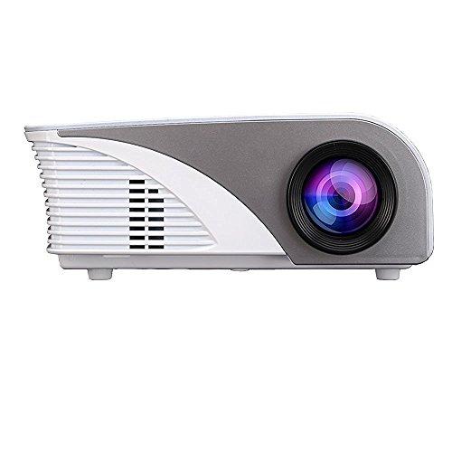 Projector,Xinda LCD 1200 Lumens Mini Multi-media Portable Video Projector Game Home Cinema Theater Movie Projector White 001BW