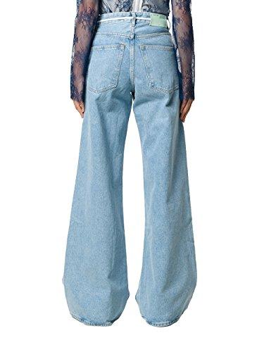 Donna Owce047f171491867330 Cotone Off white Jeans Azzurro 8P7SES