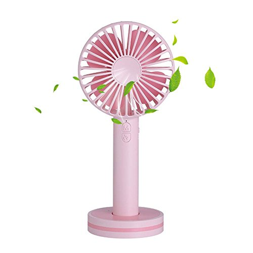 Mini Handheld Fan, niceeshop(TM) Protable Mini Rechargeable USB Fan Personal Cooling Fan Battery Operated Electric Fan with Base Makeup Mirror for Travel Home And Office Use