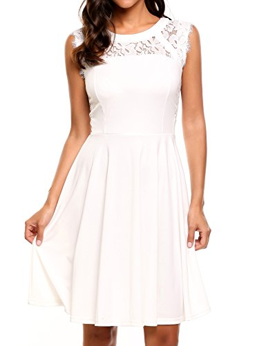 Meaneor Womens Sleeveless Pleated Cocktail