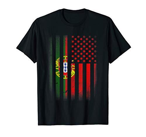 Portuguese American Flag T-shirt Portugal Usa America