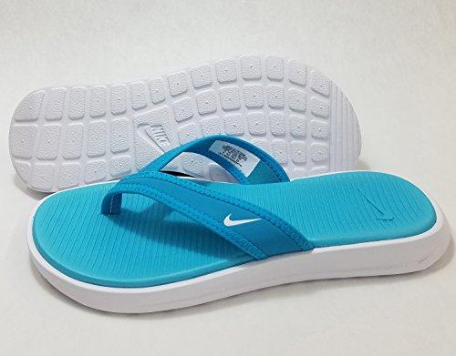 Nike Womens Ultra Celso Thong, Chlorine Blue/White-White, 7 Blue Thongs Flip Flops
