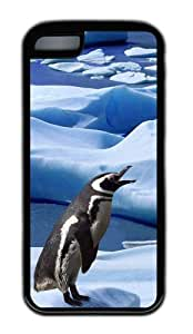 Customized Case Penguins 2 TPU Black for Apple iPhone 5C