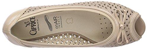 Caprice 29100 - Zapatos de vestir de material sintético para mujer marrón - Braun (SAND COMB/301)