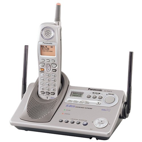 Panasonic KX-TG5210M GigaRange Supreme 5.8 GHz DSS Expandable Cordless Phone with Answering System
