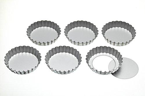 Kitchen Craft Backform mit Hebeboden, 6 Stück