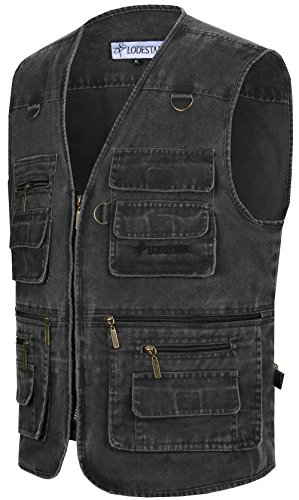 Multi Waistcoat Printemps Mens poches Été Manches Sans Veste Photography Jiinn Gilets Gris Hommes Sports Jacket Coton Outdoor Classique w85qxxCI