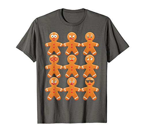 (Cool Gingerbread Emojis Shirt | Emoticon Face Christmas)